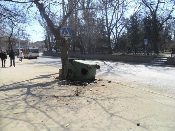 В Симферополе неизвестные поджигают мусорные баки (фото), фото-1