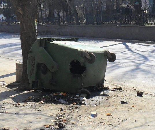 В Симферополе неизвестные поджигают мусорные баки (фото), фото-2