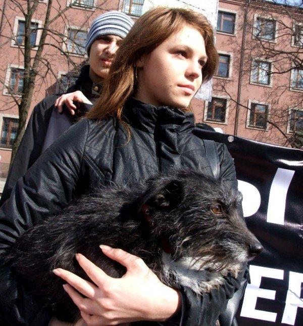 В Донецке протестовали против массовых убийств животных (фото), фото-4