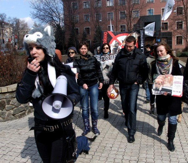 В Донецке протестовали против массовых убийств животных (фото), фото-7