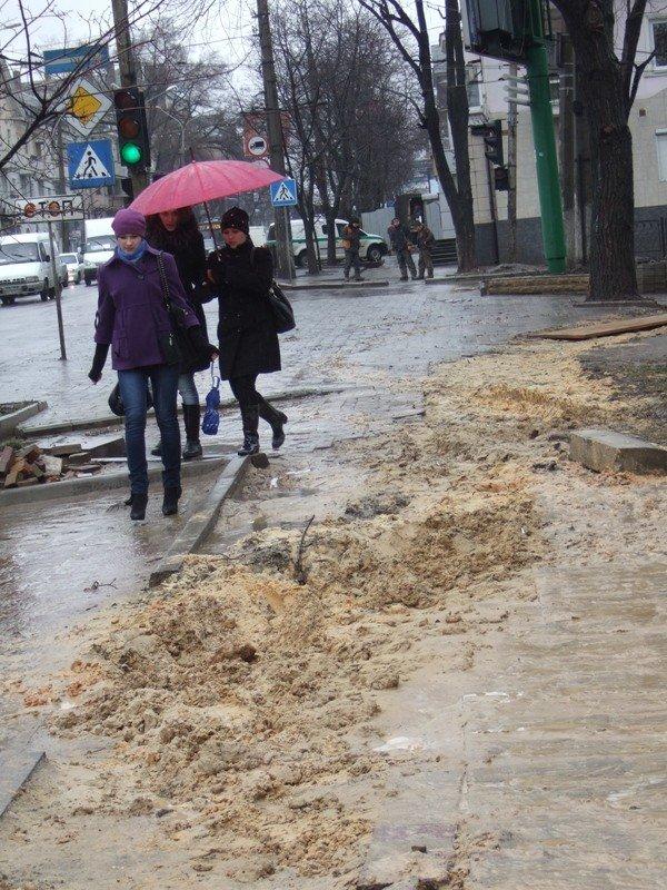Центральные улицы Донецка непогода  превратила «в болото» (фото), фото-2