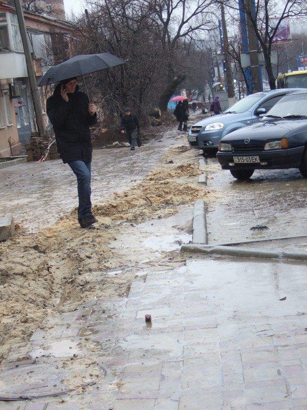 Центральные улицы Донецка непогода  превратила «в болото» (фото), фото-3
