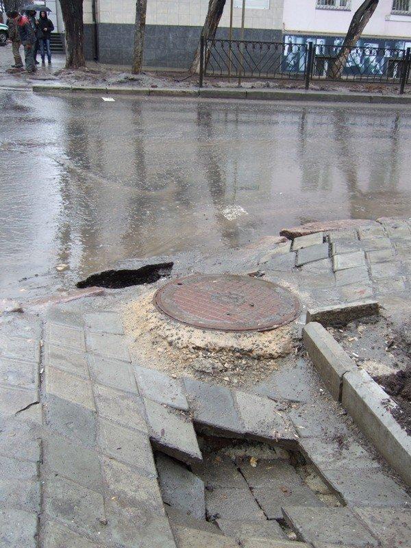 Центральные улицы Донецка непогода  превратила «в болото» (фото), фото-4