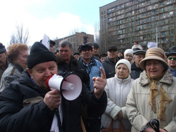 В Донецке на митинге избили инвалида (фото), фото-4