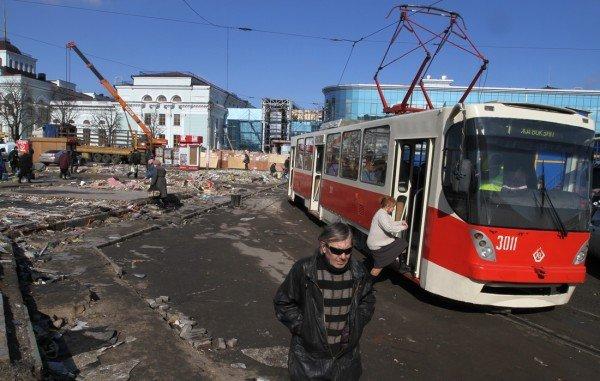 Трамвайное кольцо на Привокзальной площади в Донецке должны перенести до 1 мая (фото), фото-1
