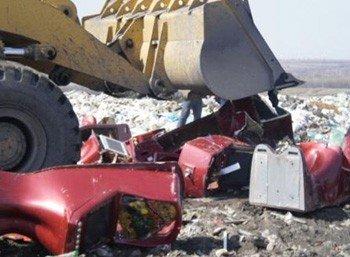 В Донецкой области бульдозером раздавили десять игровых автоматов (фото), фото-1