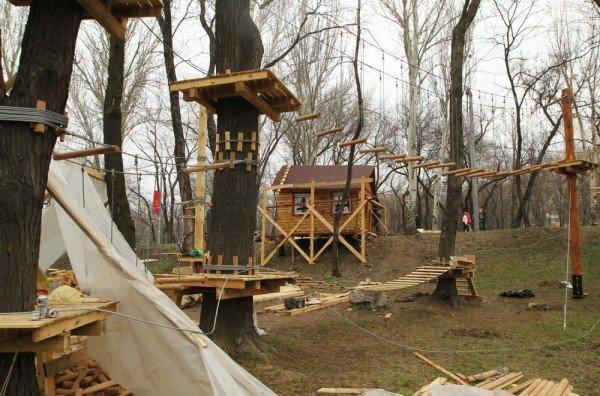 В Донецке откроется веревочный парк «Лень в пень», фото-1
