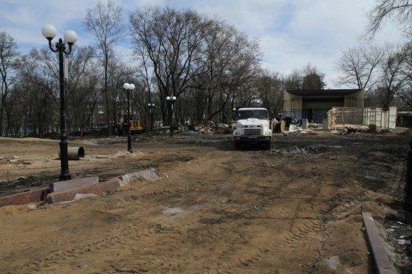 В Донецке продолжается реконструкция парка Металлургов (фото), фото-10