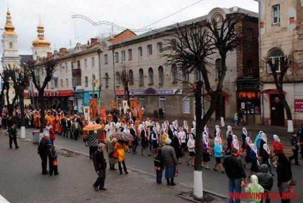 На Великдень православні пішли хресним ходом вулицями Вінниці (ФОТО), фото-1