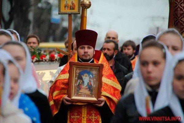 На Великдень православні пішли хресним ходом вулицями Вінниці (ФОТО), фото-2