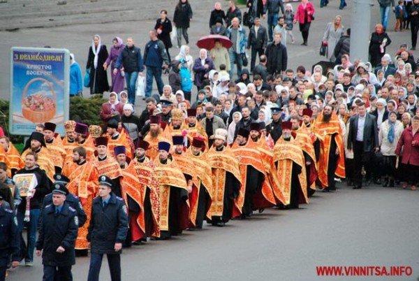 На Великдень православні пішли хресним ходом вулицями Вінниці (ФОТО), фото-5