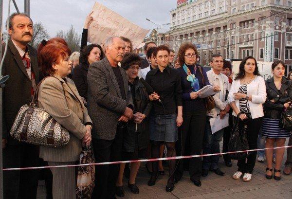 В центре Донецка протестовали против строительства храма и завода (фото), фото-2