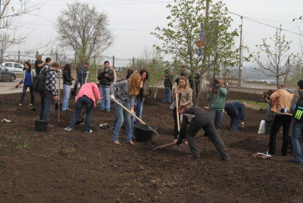 Как в Донецке губернатор, мэр и председатель облсовета садили деревья (фото), фото-6