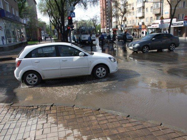 Центр Донецка сегодня залило потоками грязной воды (фото), фото-3