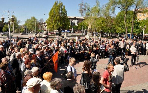 ФОТОРЕПОРТАЖ: В Запорожье чиновники превратили митинг ко Дню чернобыльской трагедии в предвыборную агитацию, фото-1
