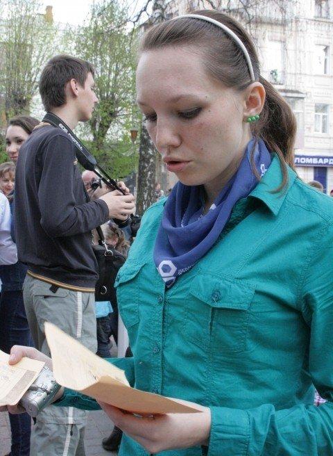 У Вінниці студенти-волонтери зробили статую пластикової пляшки (ФОТО), фото-9