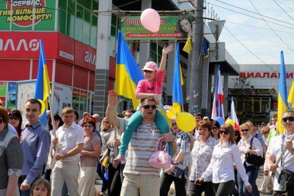 В Симферополе первомайская демонстрация прошла под палящим солнцем (ФОТО), фото-3