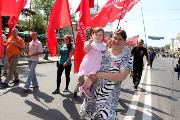 В Симферополе первомайская демонстрация прошла под палящим солнцем (ФОТО), фото-6