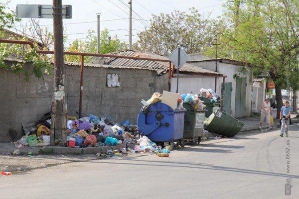 Первомайский подарок от мэрии Симферополя: с улиц города не вывозят мусор (ФОТО), фото-1