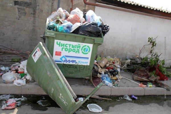 Первомайский подарок от мэрии Симферополя: с улиц города не вывозят мусор (ФОТО), фото-2