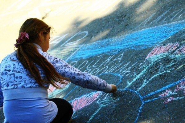 В Артемовске дети украсили парк антивоенными рисунками, фото-5