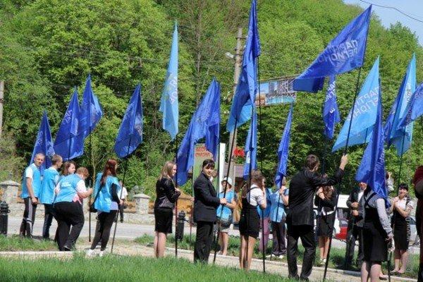Крымских партизан чествовали под политическими флагами (ФОТО), фото-1