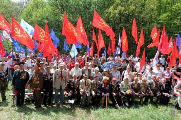 Крымских партизан чествовали под политическими флагами (ФОТО), фото-3