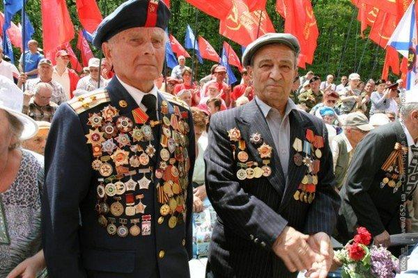 Крымских партизан чествовали под политическими флагами (ФОТО), фото-4
