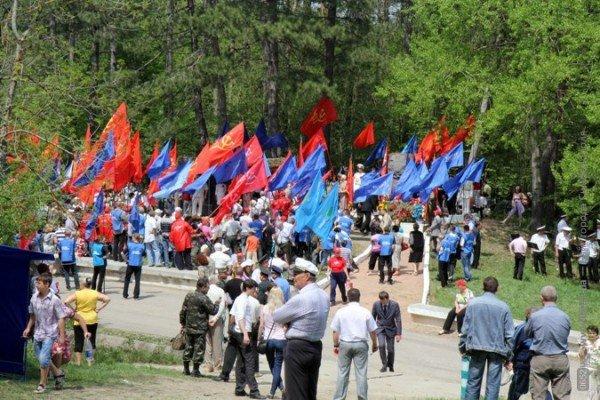 Крымских партизан чествовали под политическими флагами (ФОТО), фото-7