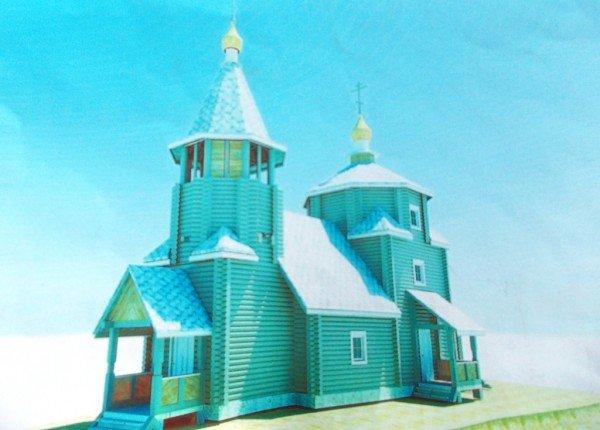 Строительство деревянного храма закончат в сентябре - ко Дню города Артемовска (ФОТО), фото-2