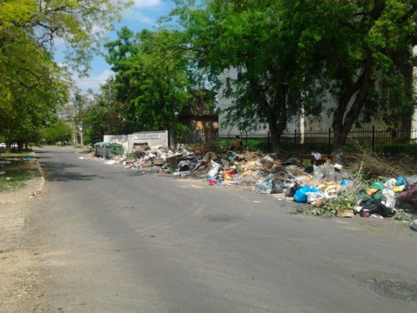 Фотофакт: Симферопольская школа утопает в мусоре, фото-1