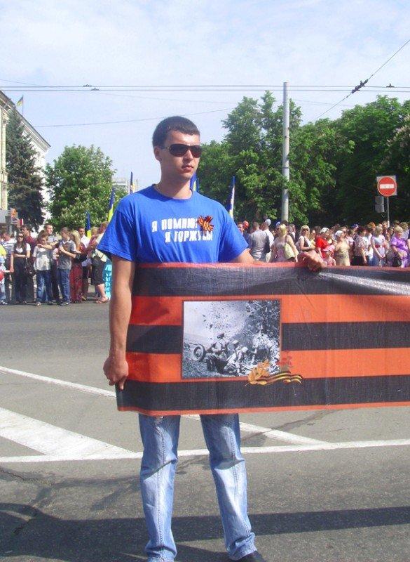 День Победы в Луганске прошел под голубыми и красными знаменами (ФОТО), фото-2