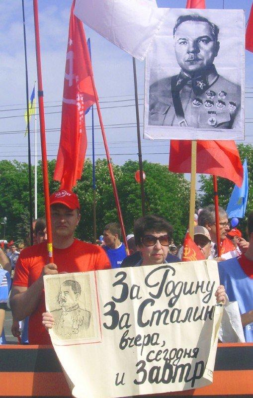 День Победы в Луганске прошел под голубыми и красными знаменами (ФОТО), фото-5