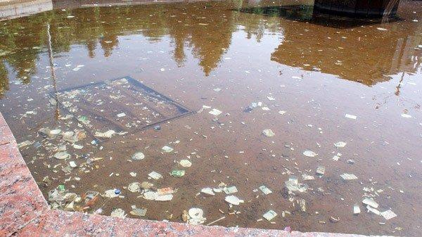 Кучи мусора и заплеванный фонтан. Кто виноват: коммунальщики или горловчане?, фото-4