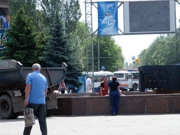 После публикации на сайте 06242 коммунальщики вычистили главный фонтан Горловки, фото-2