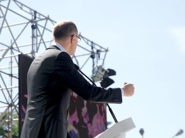 Горловчане присутствовали на форуме объединенной оппозиции, где приняли программу о свержении Януковича, фото-2