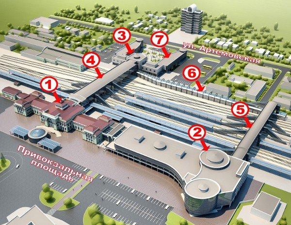 Новый донецкий железнодорожный вокзал откроют 21 мая (схема нового вокзала), фото-1