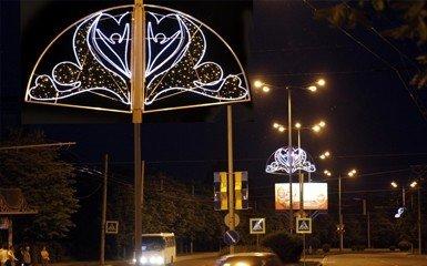 На улицах Донецка появилась праздничная иллюминация к Евро-2012, фото-1