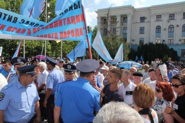Оппозицию не подпустили к меджлисовцам в день траура (ФОТО), фото-1