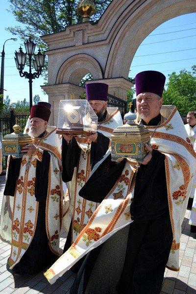 В Горловку прибыли мощи святых угодников Божиих, фото-2