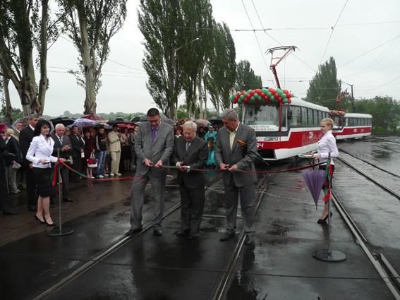 В Кривом Роге открылся новый участок линии скоростного трамвая, фото-1