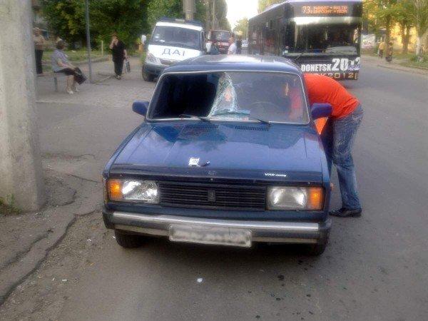 В Донецке сбили женщину на пешеходном переходе (фото), фото-1
