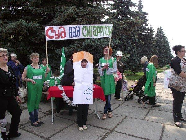 На площади Победы прошёл флешмоб, посвящённый Всемирному дню без табака, фото-5