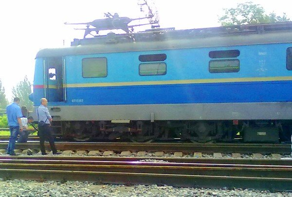 В Горловке пассажирский поезд сошёл с рельс, фото-1