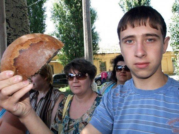 В Донецке на митинг протеста вышли работники хлебозавода (фото), фото-4