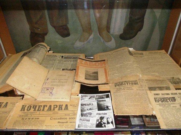 В Артемовском музее можно увидеть, какие газеты печатали в Бахмуте в начале прошлого века, фото-1