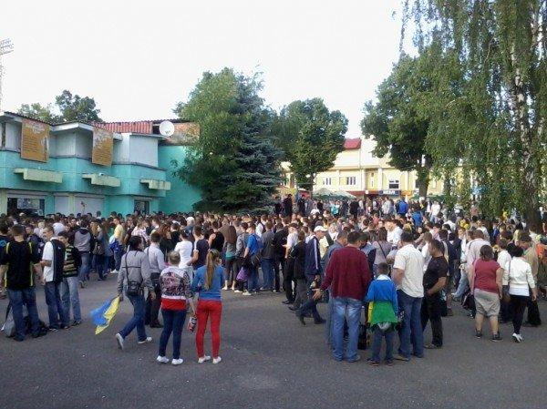 Тернополяни почали покидати фан-зону ще до завершення матчу України та Франції (фото), фото-1