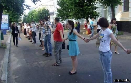 Житомиряни на підтримку української мови утворили «живий ланцюг» (ФОТО), фото-3