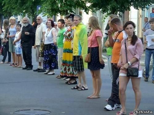 Житомиряни на підтримку української мови утворили «живий ланцюг» (ФОТО), фото-4