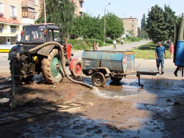 В центре Артемовска серьезный порыв водопровода (ФОТО), фото-3